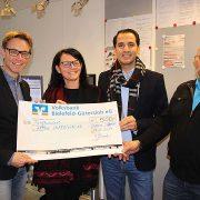 Glüh dich glücklich Spendenübergabe von Location Schloss Möhler an Radio Gütersloh