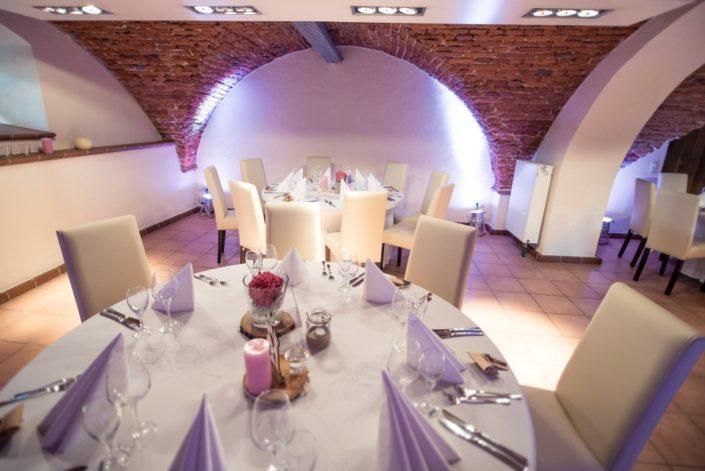Festlicher Tisch in der Location Gewölbekeller