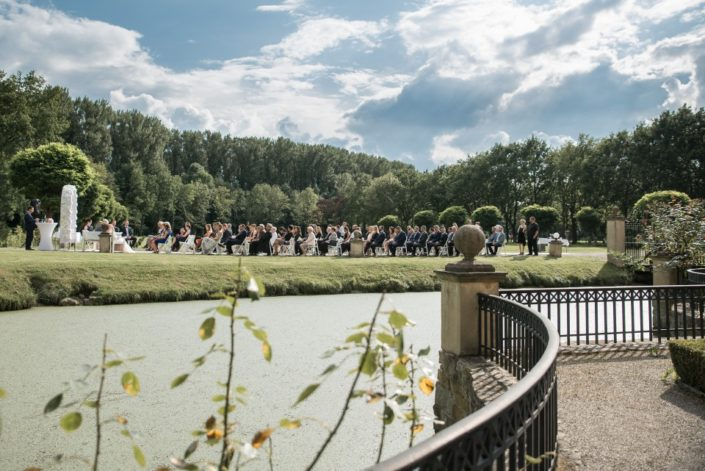 Blick aus dem Barockgarten Hochzeit Möhler