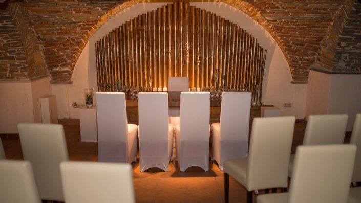 Standesamt im Gewölbekeller auf Schloss Möhler