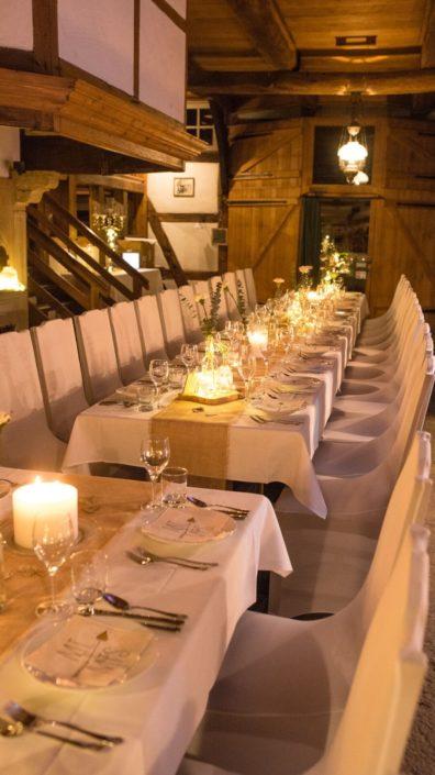 Hochzeitstisch im Gesindehuis auf Schloss Möhler