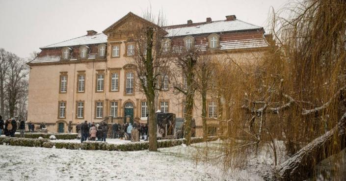 gut besucht schon am Nachmittag am Schloss Möhler
