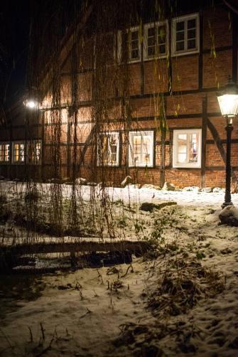 Gesindehuis im Winter