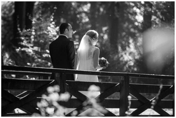 Hochzeitspaar auf Brücke - Website Location Schloss Möhler