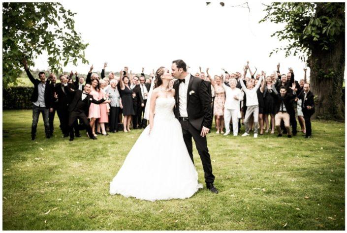 Hochzeitspaar mit Familie - Website Location Schloss Möhler