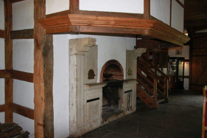 Kamin im Gesindehuis auf Schloss Möhler