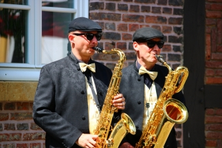 Session Sax Duo auf Schloss Möhler