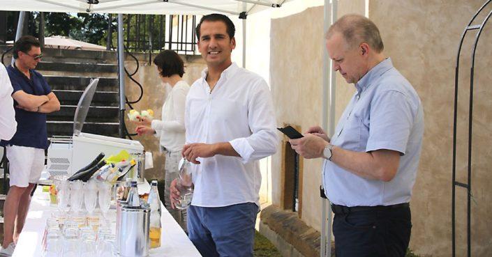 Catering Savci Events und Helmut Westrup auf Schloss Möhler