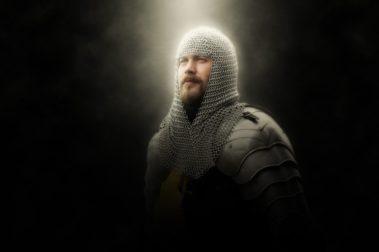 Ritter in Rüstung auf Schloss Möhler